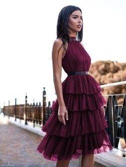 Sukienka ZOYA- bordowy
