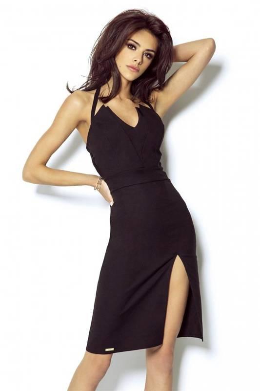 niki mała czarna sukienka ołówkowa bez pleców na sylwestra