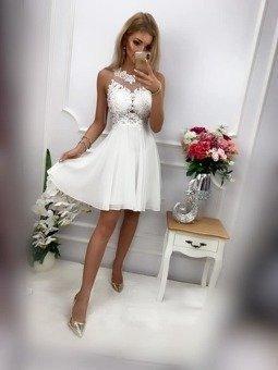 Sukienka BUGATTI krótka- biały