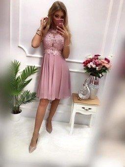 Sukienka BUGATTI krótka- wrzosowy