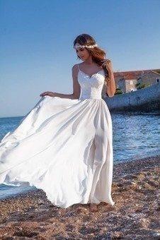 Sukienka Bella koronkowa - biała
