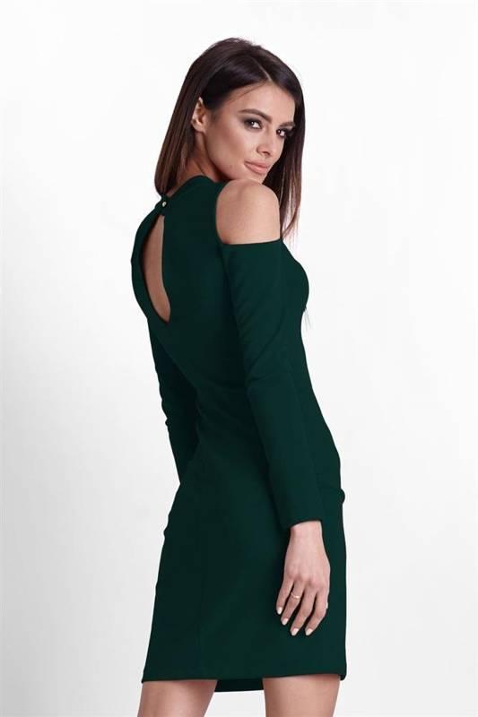 lara krótka elegancka zielona sukienka ołówkowa na karnawał