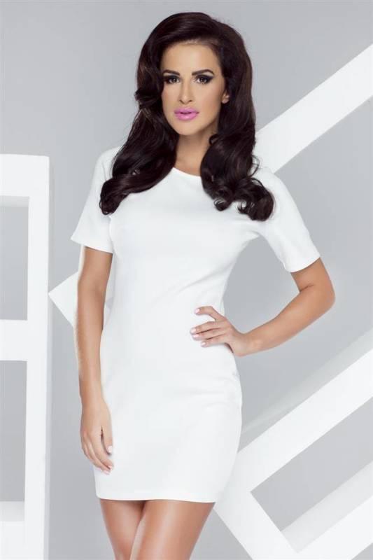 whitney krótka biała sukienka ołówkowa na co dzień