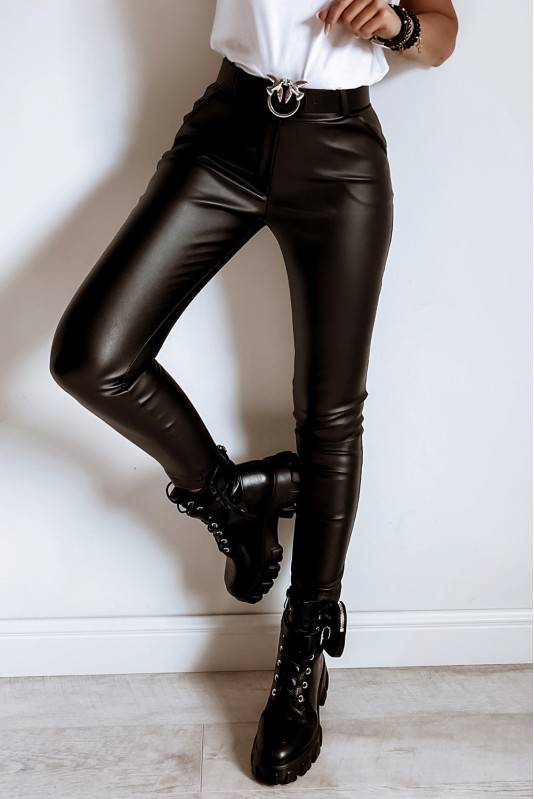 Klasyczne Spodnie Woskowane Black