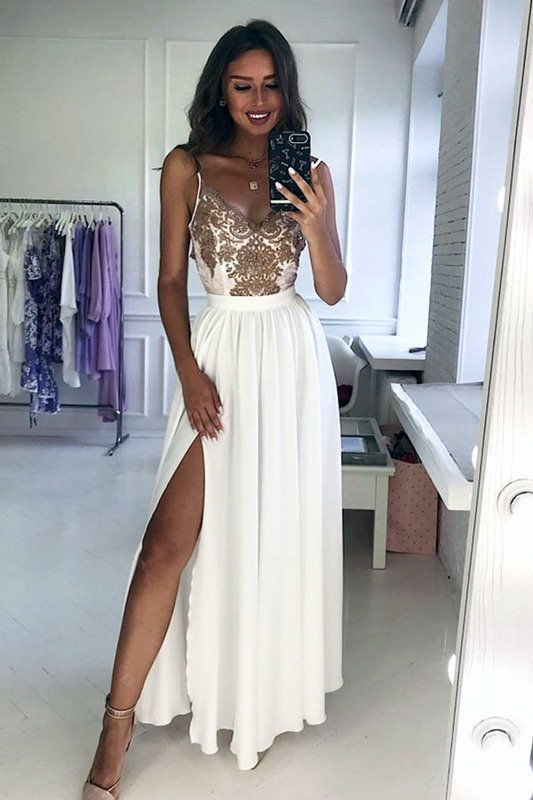 Sukienka Bella koronkowa - biała-capucinno