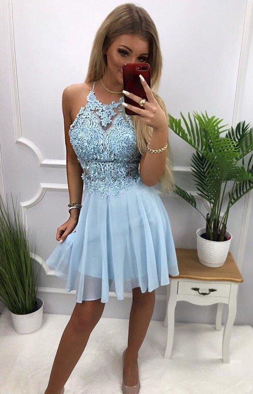 Sukienka MERCEDES- błękit
