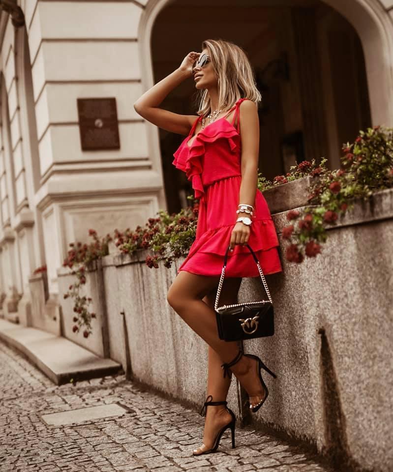 Sukienka VICKY - malinowy