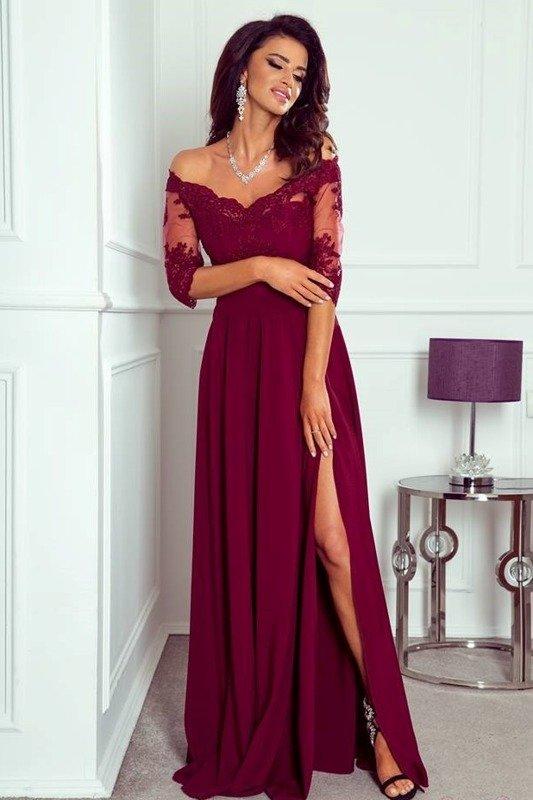 Sukienka Vanessa- bordowy