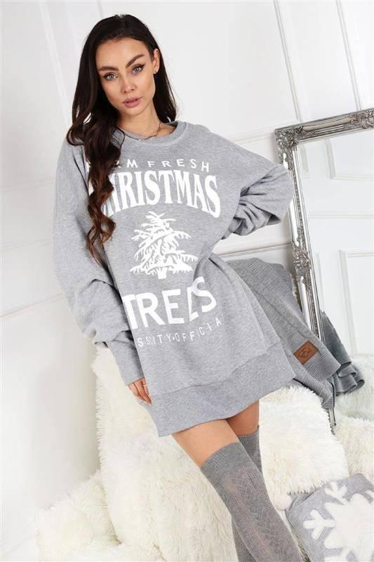 bawełniana bluza ze świątecznym nadrukiem